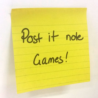 Post It Note Games
